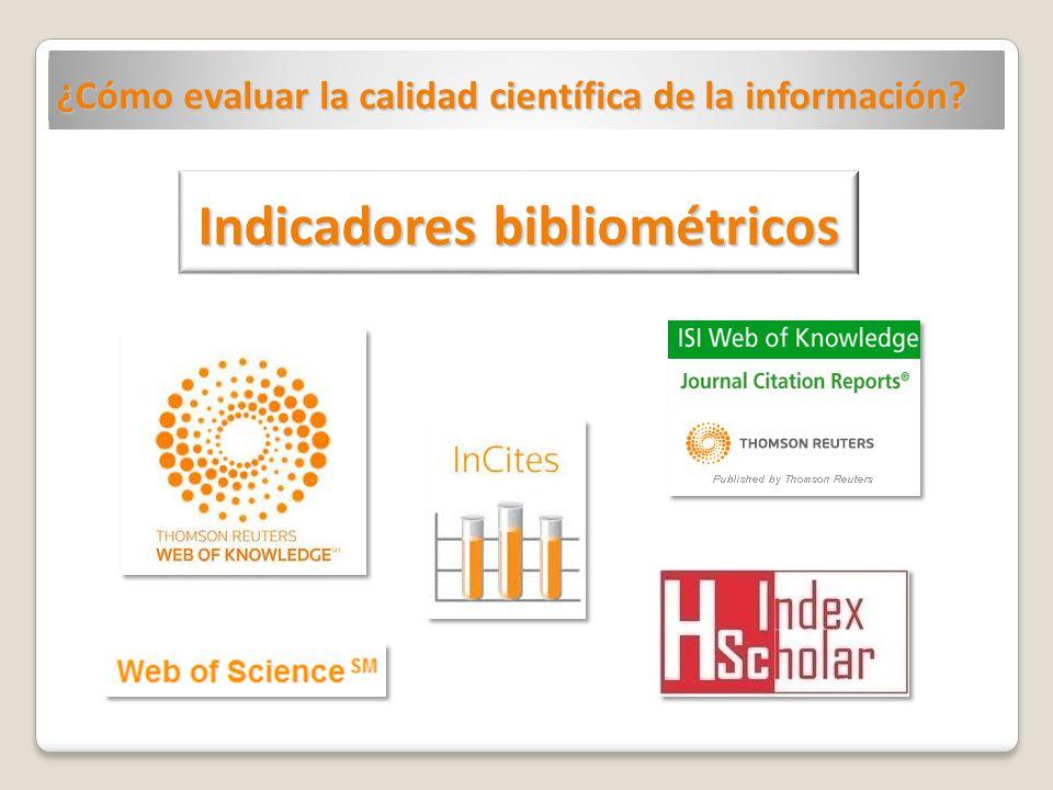 Indicadores bibliométricos