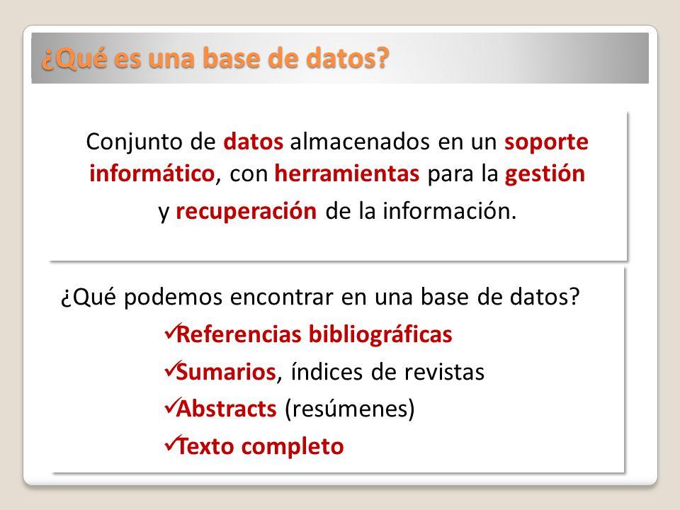¿Qué es una base de datos