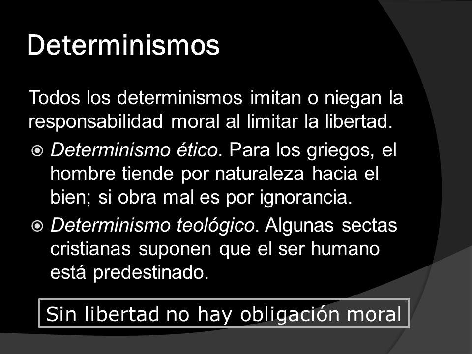 Sin libertad no hay obligación moral