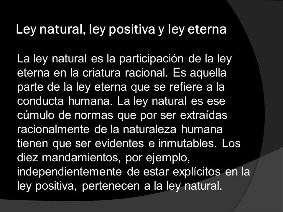 Ley natural, ley positiva y ley eterna