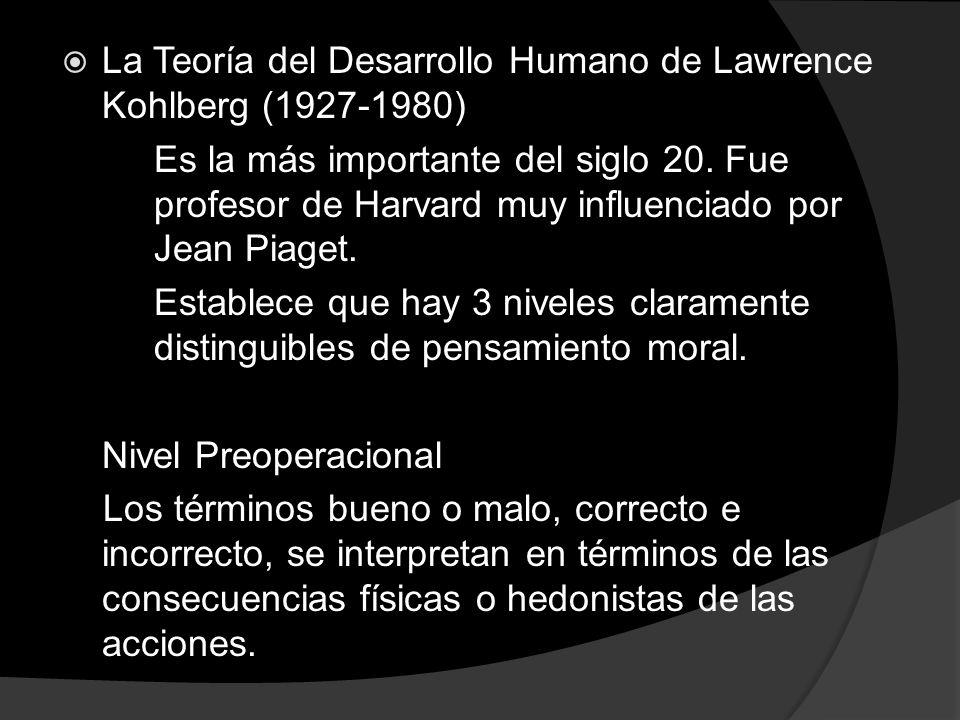 La Teoría del Desarrollo Humano de Lawrence Kohlberg (1927-1980)