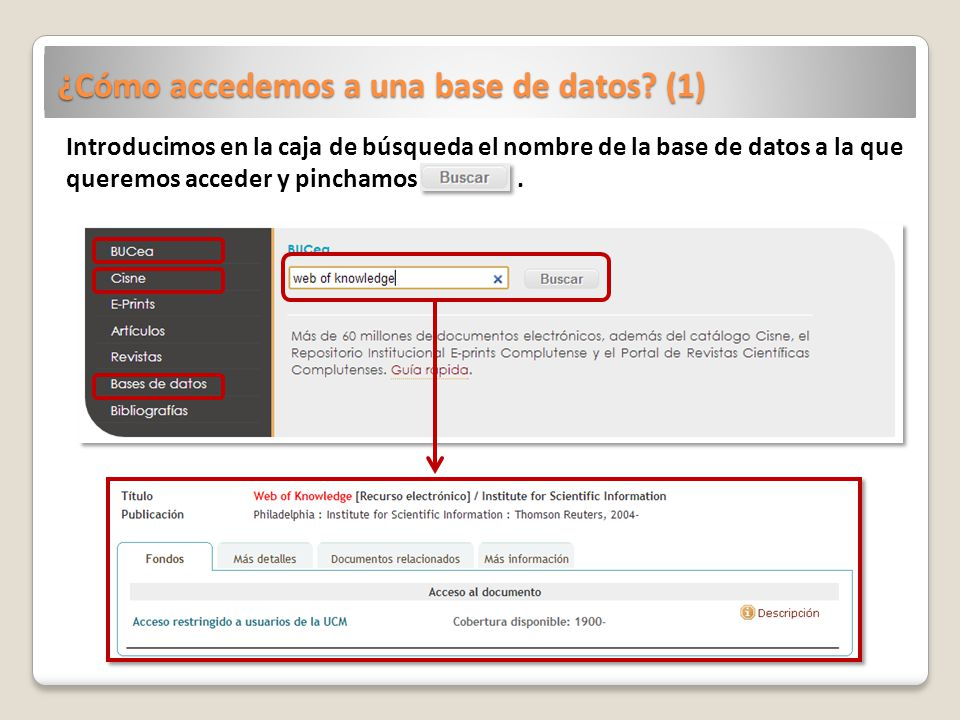 ¿Cómo accedemos a una base de datos (1)