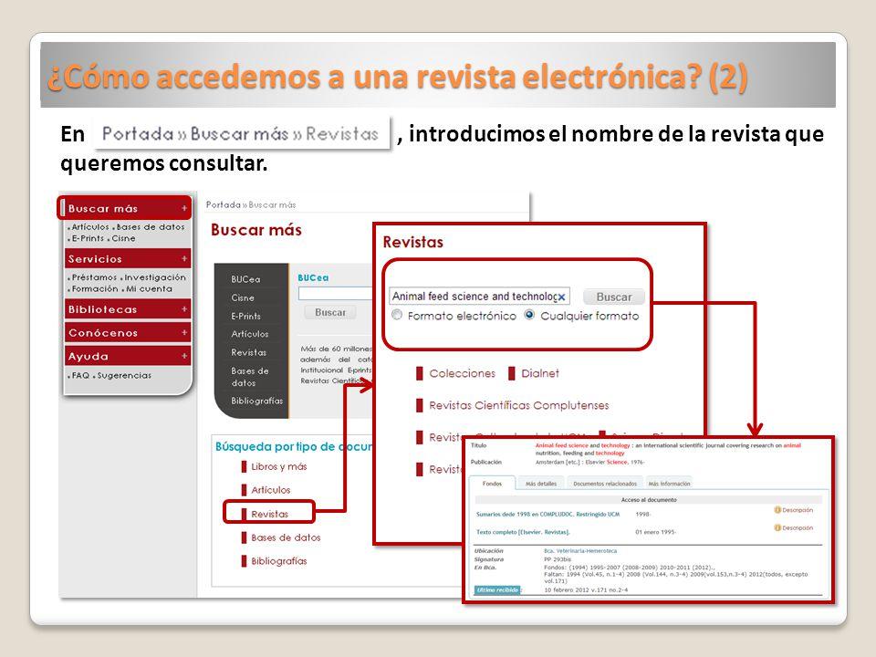 ¿Cómo accedemos a una revista electrónica (2)