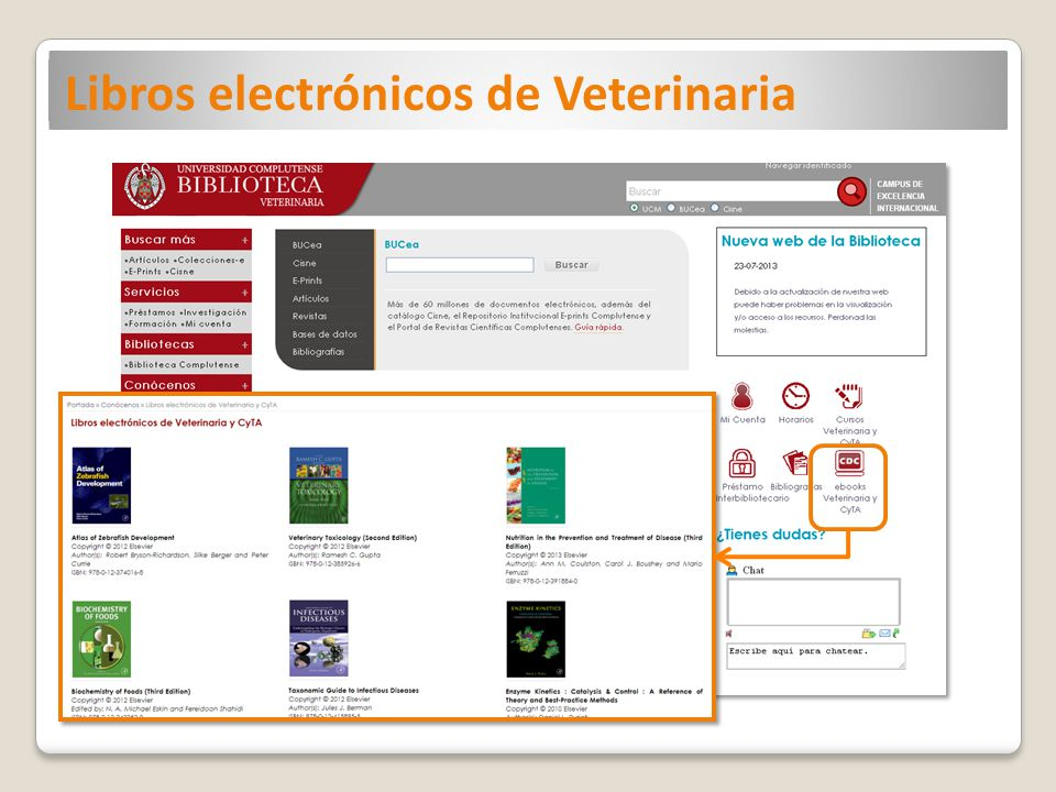 Libros electrónicos de Veterinaria