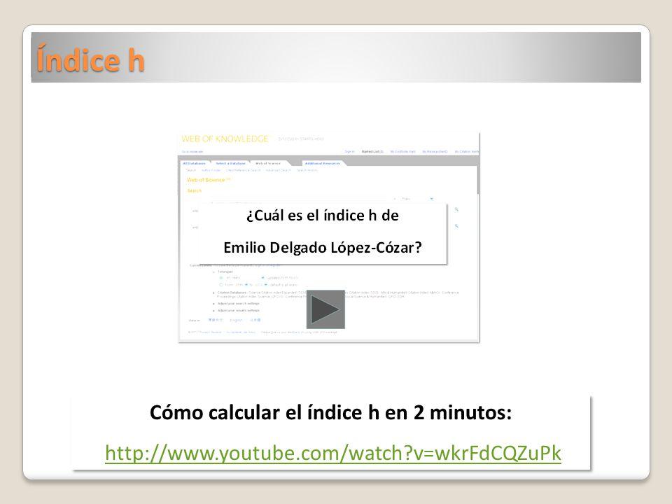 Cómo calcular el índice h en 2 minutos: