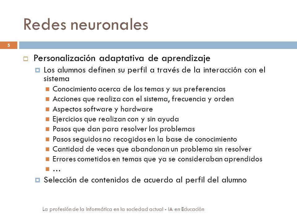 Redes neuronales Personalización adaptativa de aprendizaje