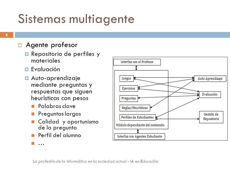 Sistemas multiagente Agente profesor