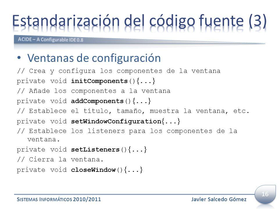 Estandarización del código fuente (3)