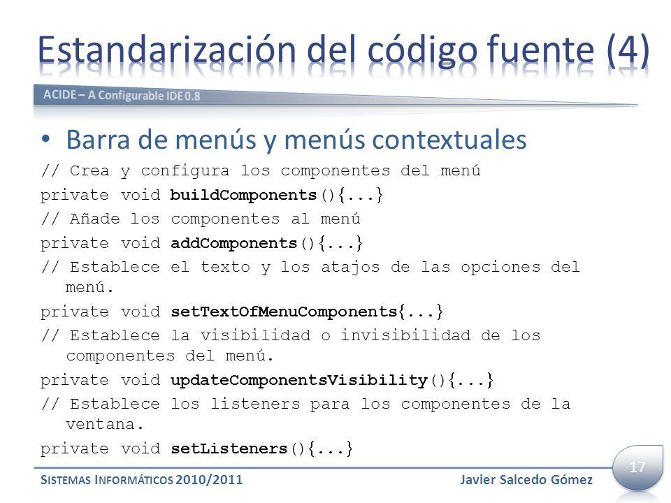 Estandarización del código fuente (4)