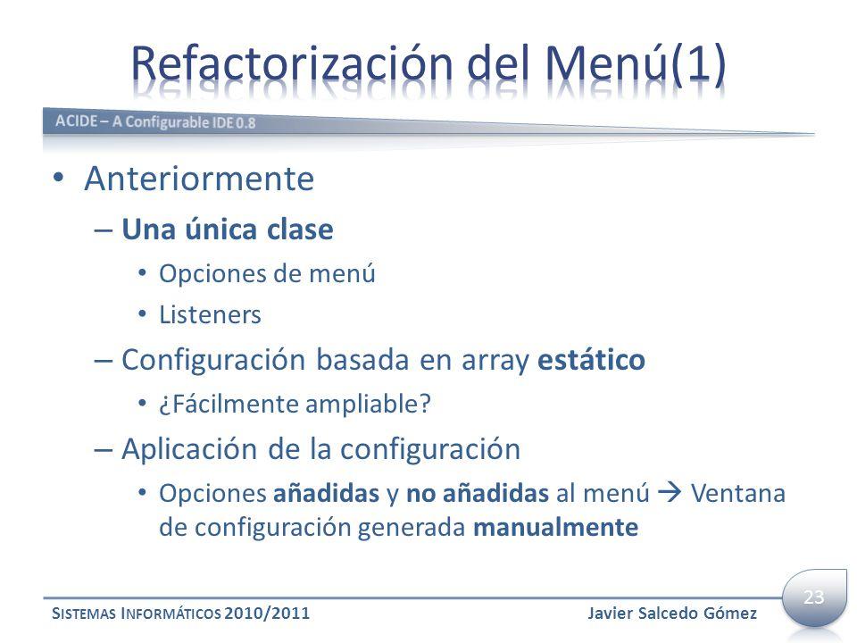 Refactorización del Menú(1)