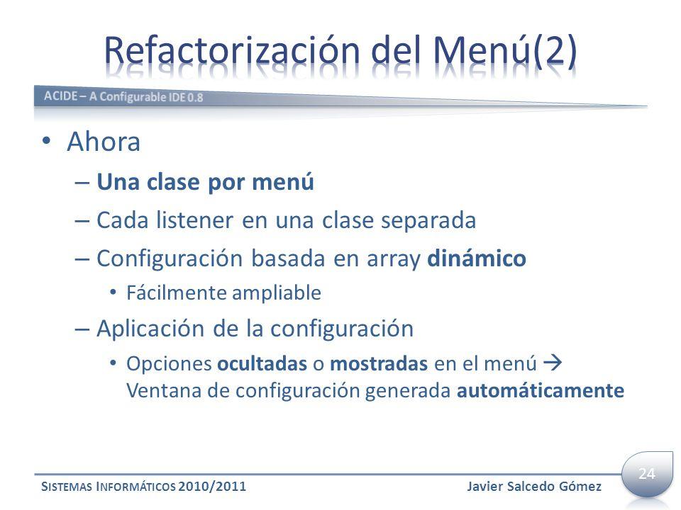 Refactorización del Menú(2)