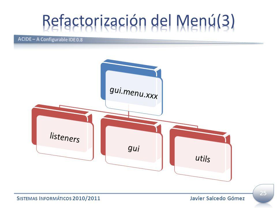 Refactorización del Menú(3)