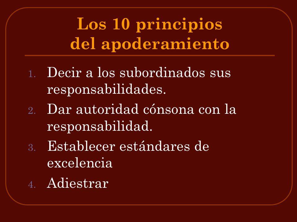 Los 10 principios del apoderamiento