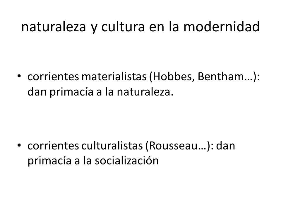 naturaleza y cultura en la modernidad
