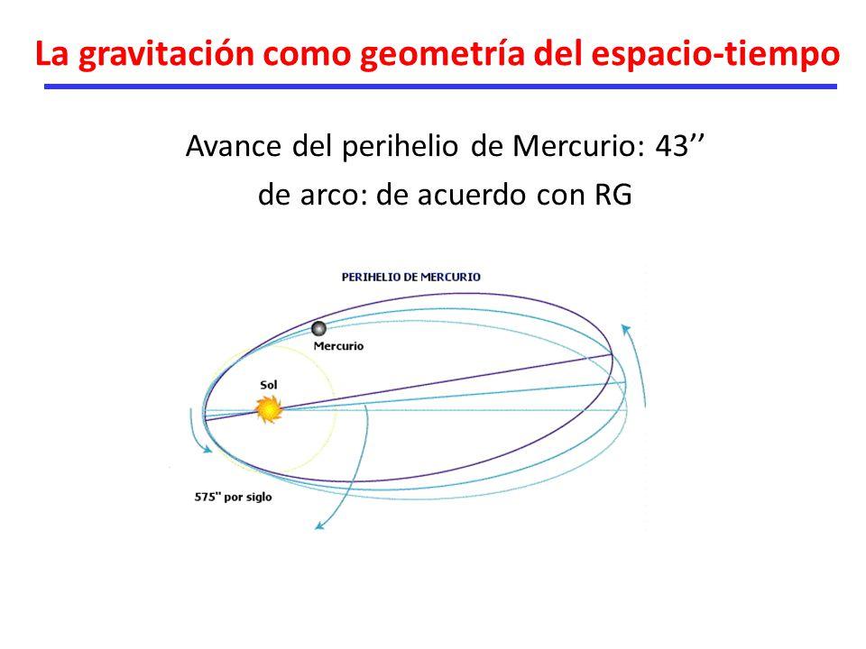 La gravitación como geometría del espacio-tiempo