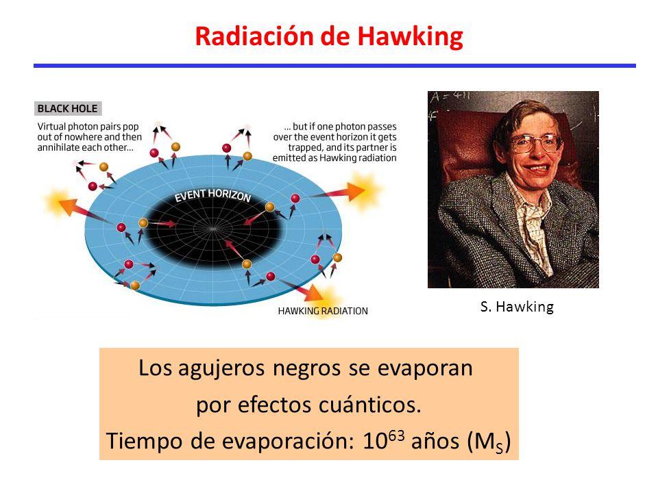 Radiación de Hawking Los agujeros negros se evaporan