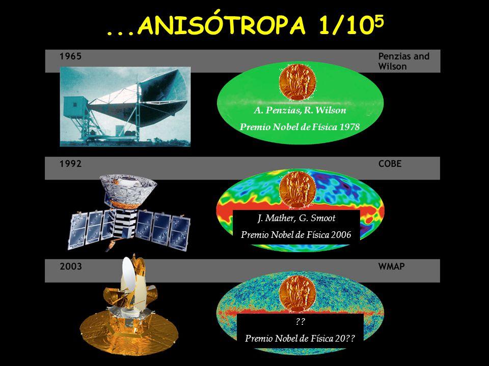 ...ANISÓTROPA 1/105 A. Penzias, R. Wilson Premio Nobel de Física 1978