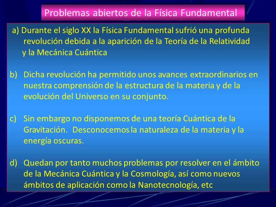 Problemas abiertos de la Física Fundamental