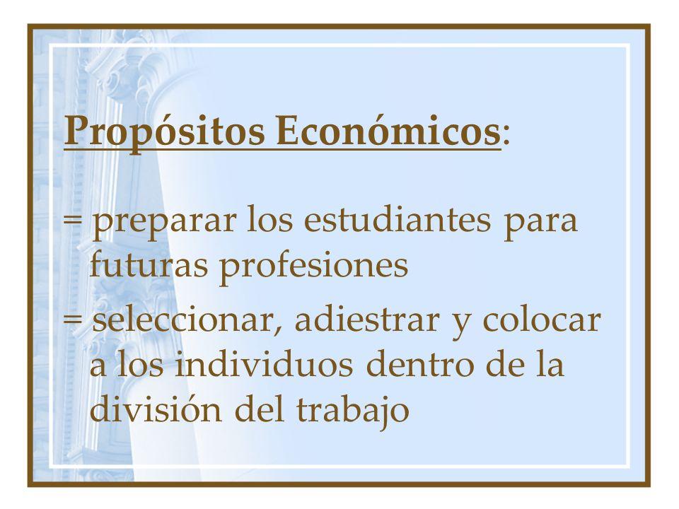 Propósitos Económicos: