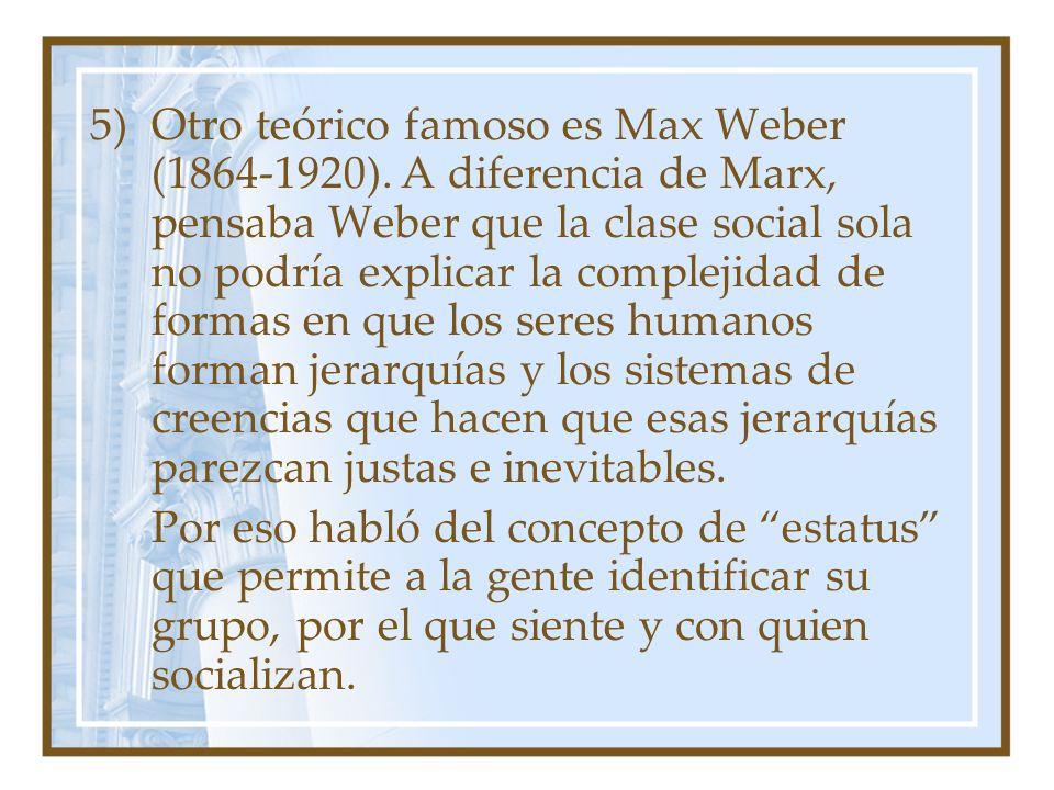 Otro teórico famoso es Max Weber (1864-1920)