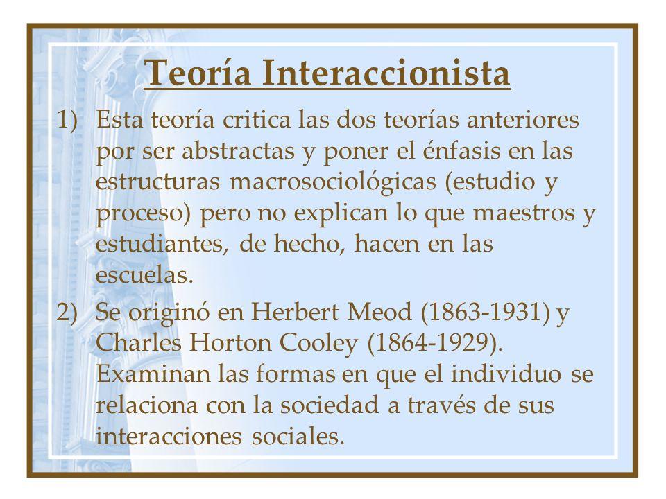 Teoría Interaccionista