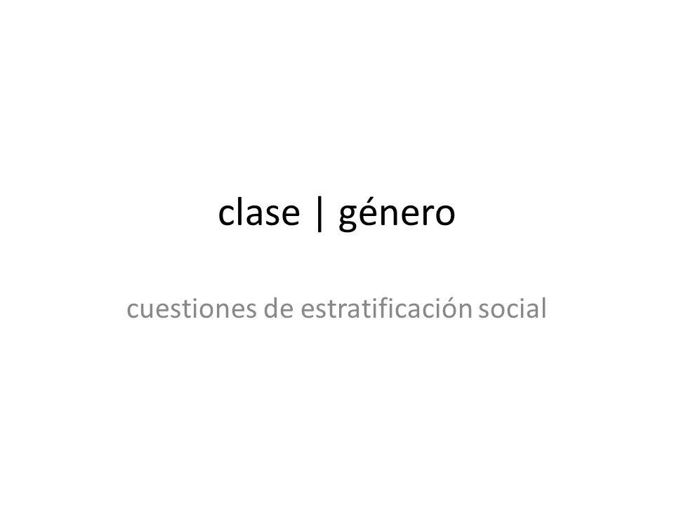 cuestiones de estratificación social