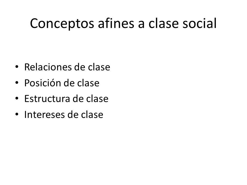 Conceptos afines a clase social