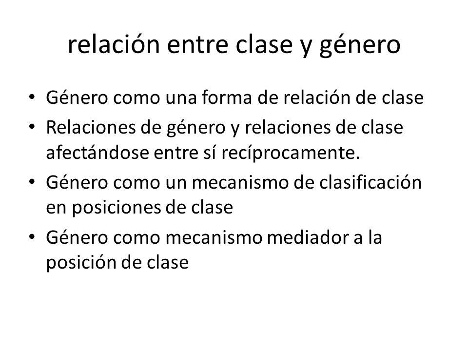 relación entre clase y género