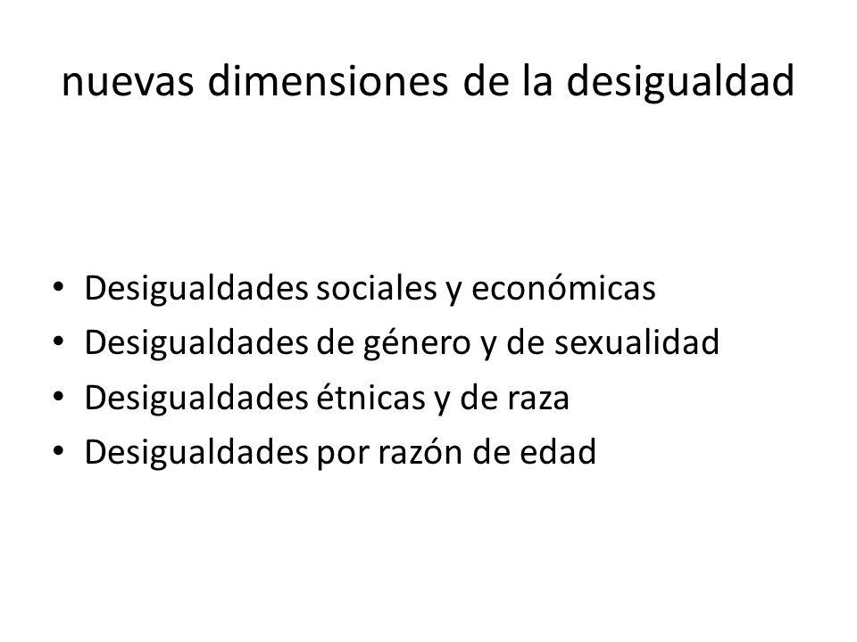 nuevas dimensiones de la desigualdad