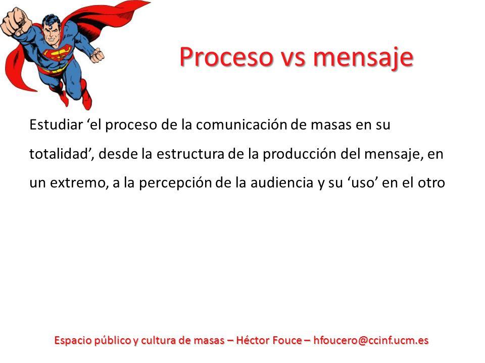 Proceso vs mensaje