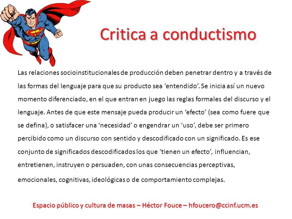 Critica a conductismo