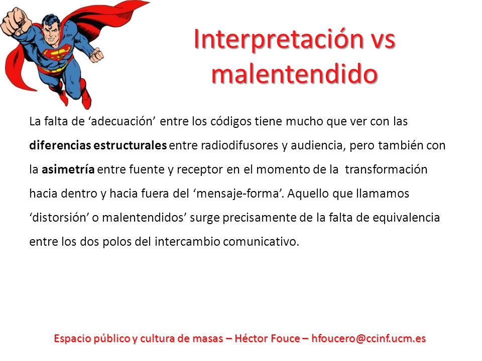 Interpretación vs malentendido