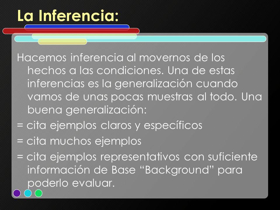 La Inferencia: