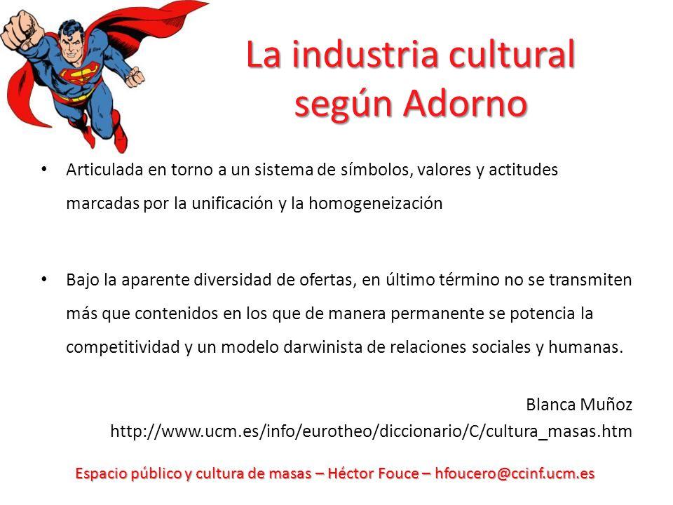 La industria cultural según Adorno