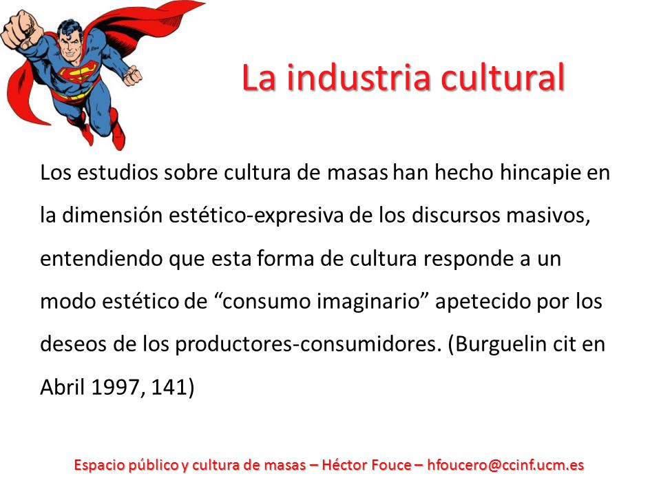 La industria cultural
