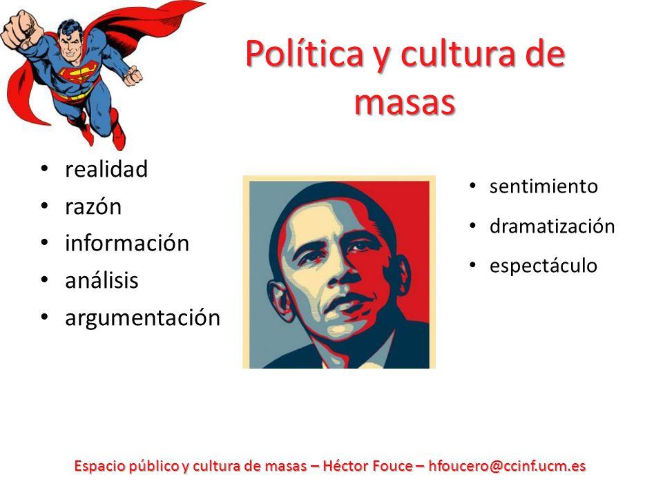 Política y cultura de masas