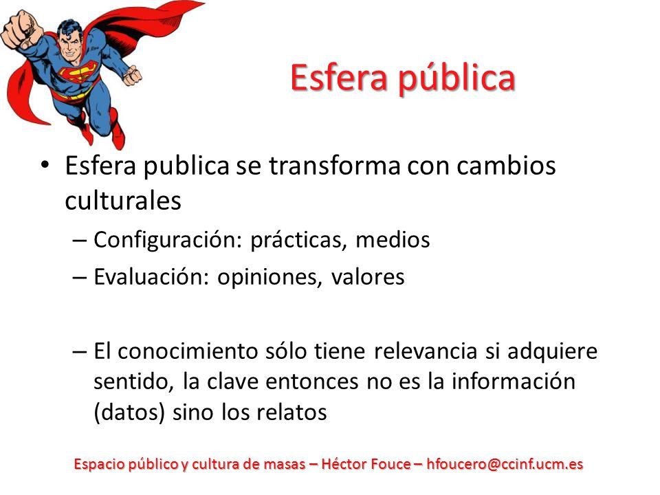 Esfera pública Esfera publica se transforma con cambios culturales