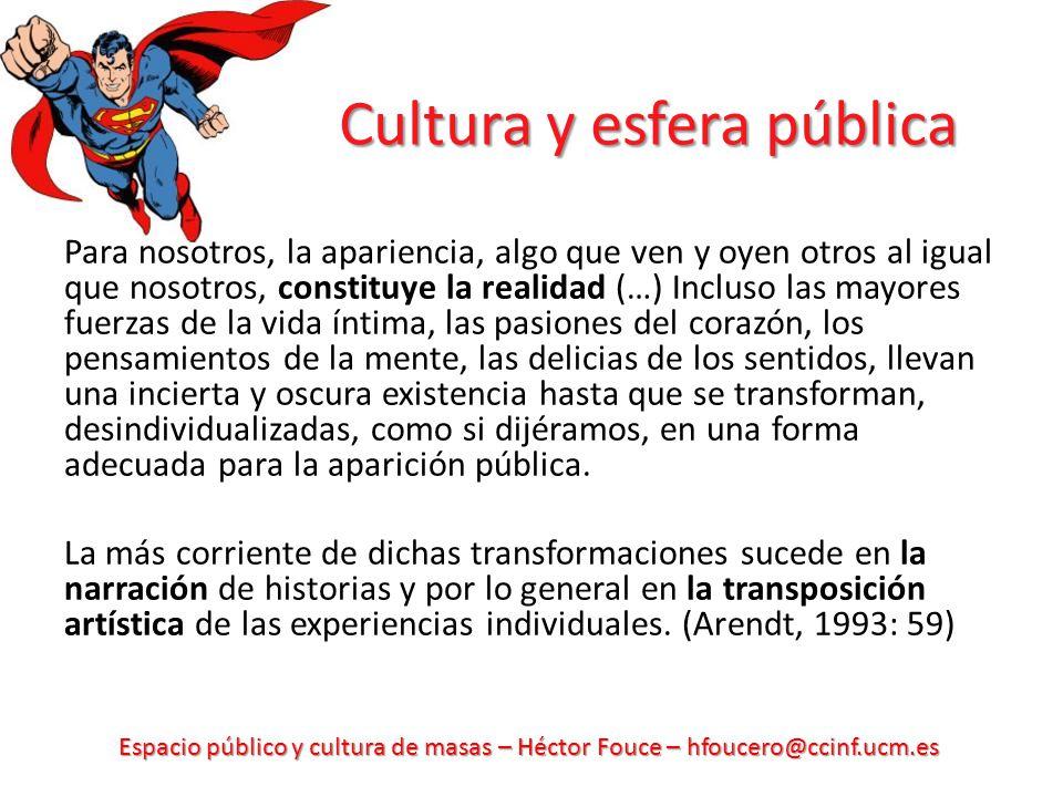 Cultura y esfera pública