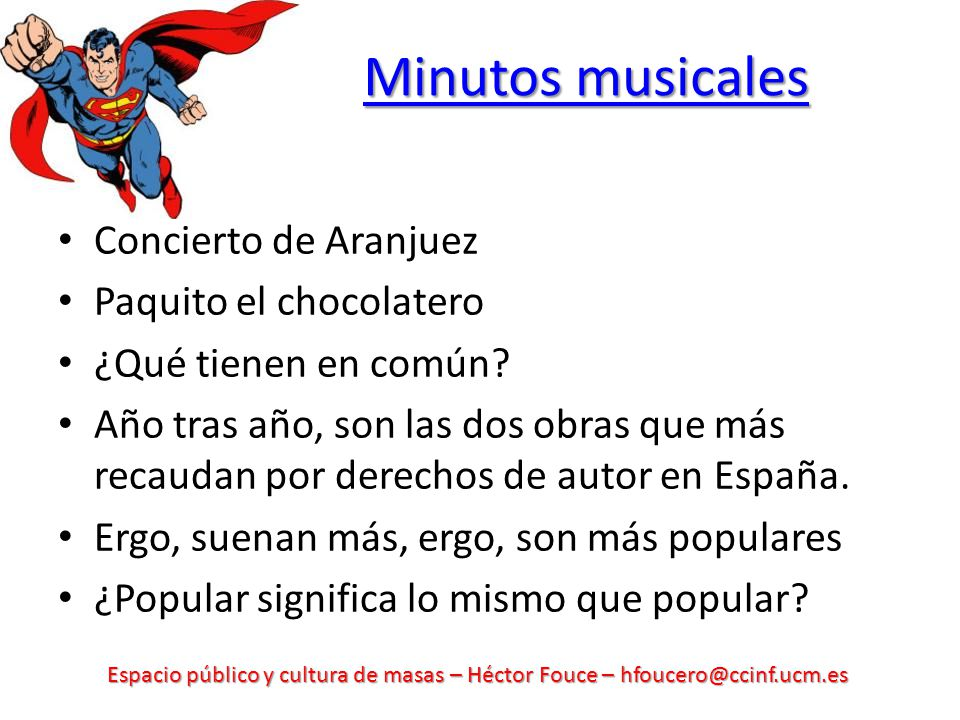 Minutos musicales Concierto de Aranjuez Paquito el chocolatero