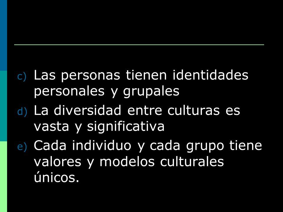 Las personas tienen identidades personales y grupales
