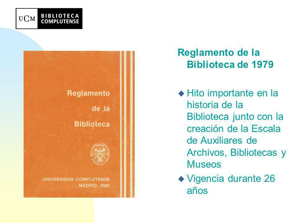 Reglamento de la Biblioteca de 1979
