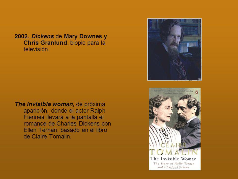 2002. Dickens de Mary Downes y Chris Granlund, biopic para la televisión.
