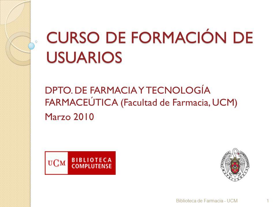 CURSO DE FORMACIÓN DE USUARIOS