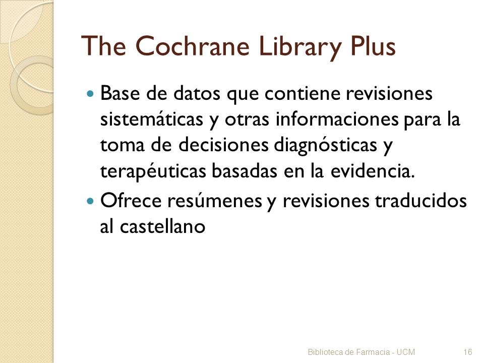 The Cochrane Library Plus
