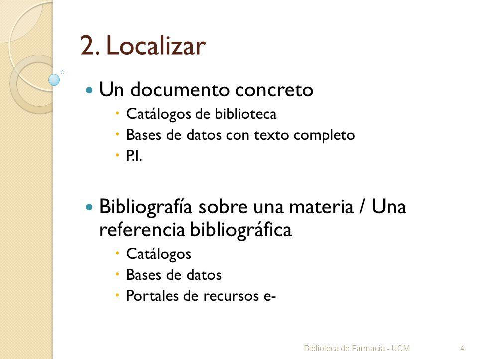 2. Localizar Un documento concreto