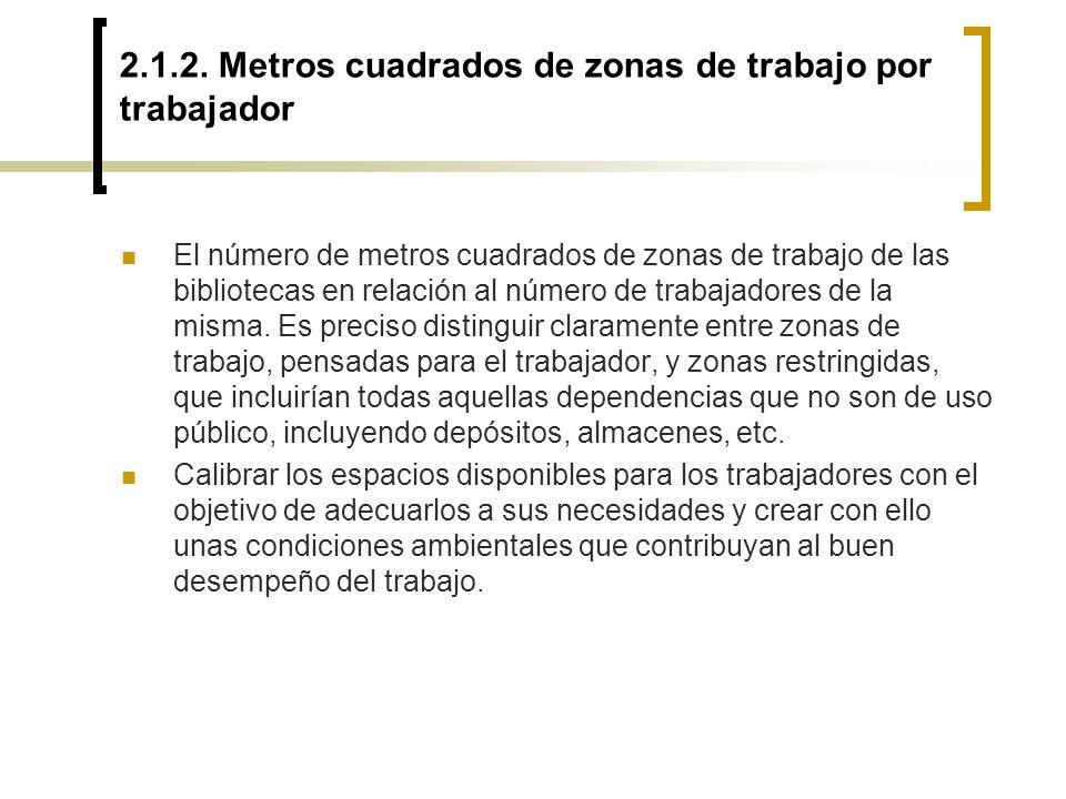 2.1.2. Metros cuadrados de zonas de trabajo por trabajador