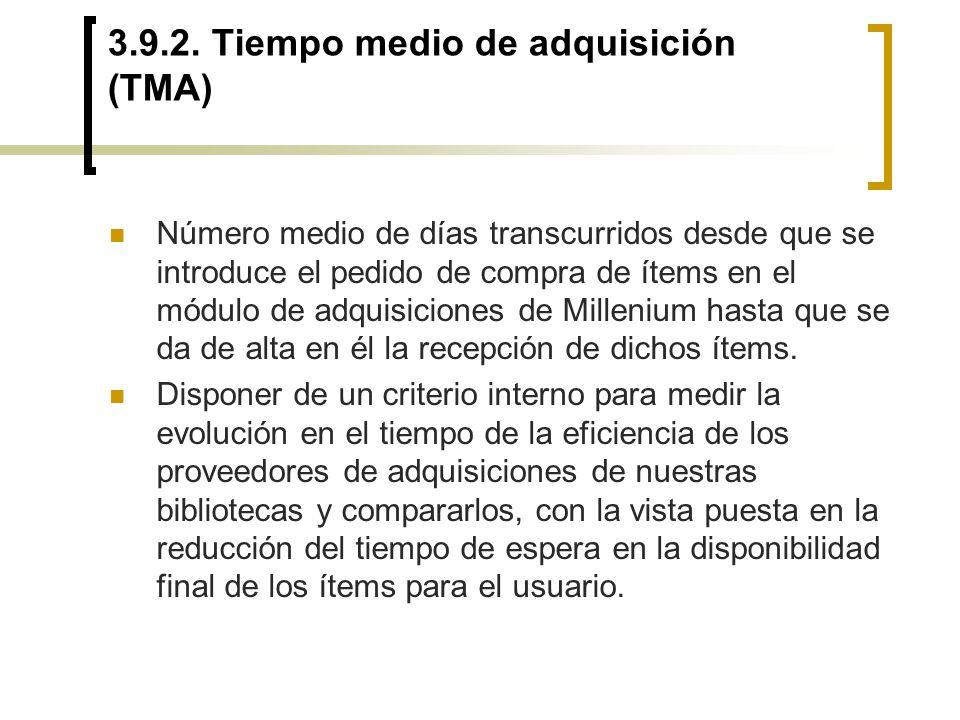 3.9.2. Tiempo medio de adquisición (TMA)