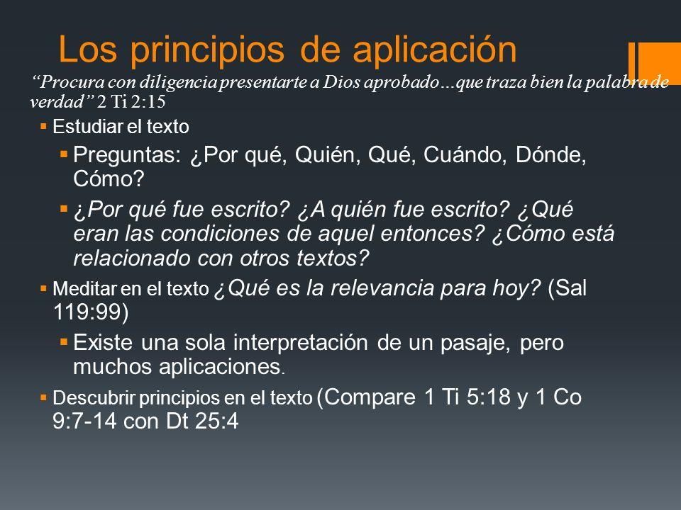 Los principios de aplicación