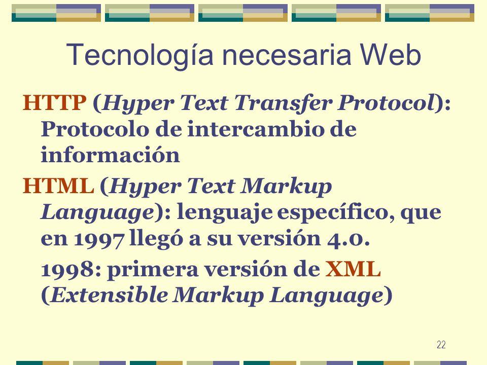 Tecnología necesaria Web