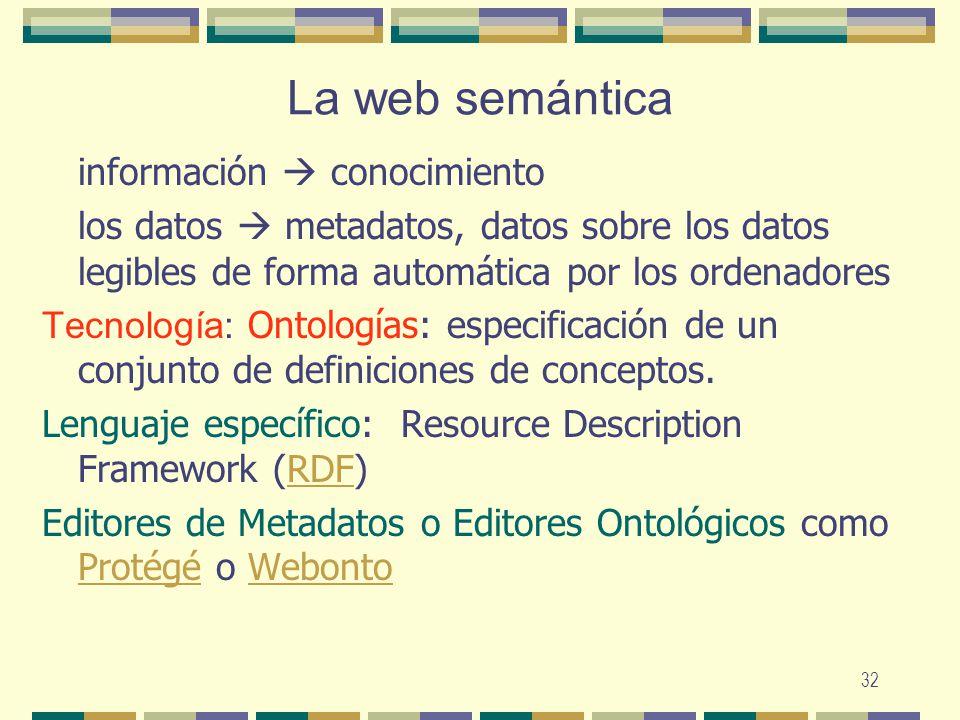 La web semántica información  conocimiento